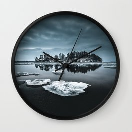 Only pieces left Wall Clock
