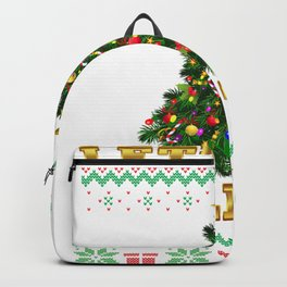 Get Lit Ugly Christmas Sweater Backpack