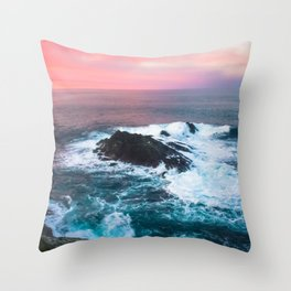 Sunset on the Bay of Biscay Throw Pillow