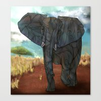 african Canvas Prints featuring African Elephant by Ben Geiger