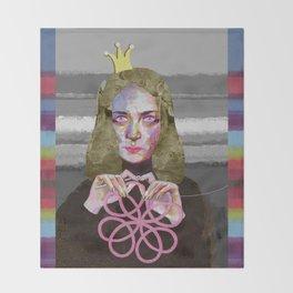 Queen of crochet Throw Blanket