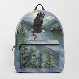 Eagle with Fish Backpack