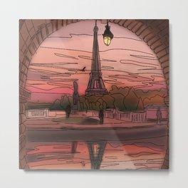 Paris Sunsets Metal Print