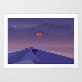 Carvan Art Print