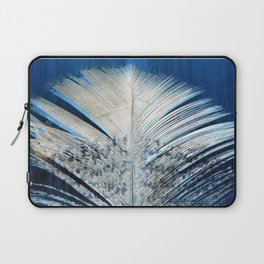 Feather | Feathers | Spiritual | White and Blue Feather | Nature Laptop Sleeve