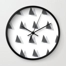 black and grey Wall Clock