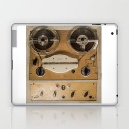 Vintage tape sound recorder reel to reel Laptop & iPad Skin