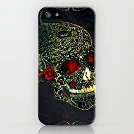 Jeweled Spider Skull iPhone Case