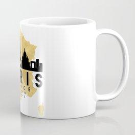 PARIS FRANCE SILHOUETTE SKYLINE MAP ART Coffee Mug