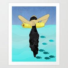 Floating Your Cares Away Art Print