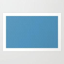 Light Blue Flower Repeating Pattern Art Print