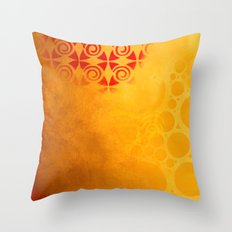 Pattern in a sandstorm Throw Pillow