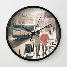 Barricade Day Wall Clock