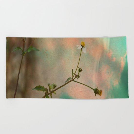 Simple Flowers Beach Towel