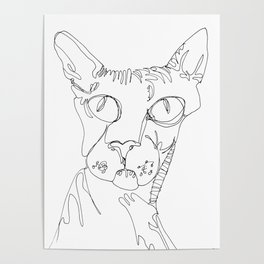 Hairless Cat - Magnificent One Poster