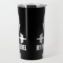 my power level is over 9000 Travel Mug