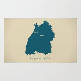 Modern Map - Baden-Wuerttemberg DE new design refreshed Rug