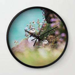 RR(288) Puffins Wall Clock