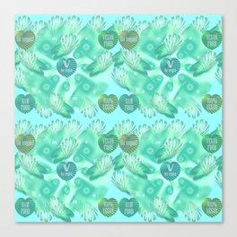 Abstract vegan pattern Canvas Print