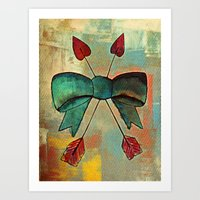 bow Art Prints featuring Bow by Kerri Swayze