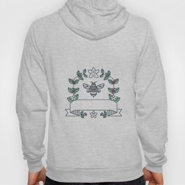 Bumblebee Coffee Leaves Cherries Flower Mono Line Hoody