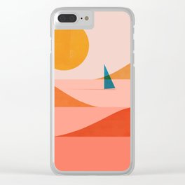 Abstraction_Sailing_Ocean_002 Clear iPhone Case