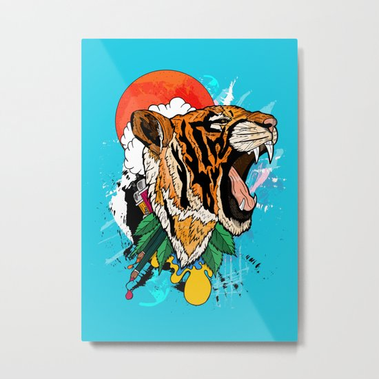 Tiger Roar 2 Metal Print