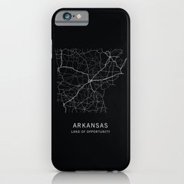 Arkansas State Road Map iPhone Case