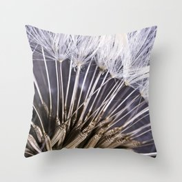 Extreme Macro Image of a Dandelion Seed Head Throw Pillow