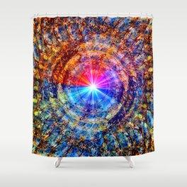 Fractal Color Wheel Shower Curtain