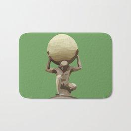 Man with Big Ball Illustration green Bath Mat