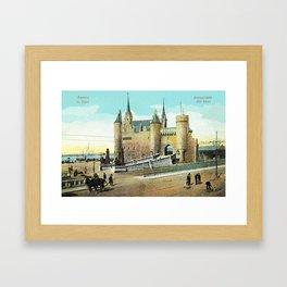 Antwerpen Antwerp Steen medieval castle Framed Art Print
