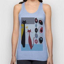 Mid-Century Modern Art Cats Unisex Tank Top
