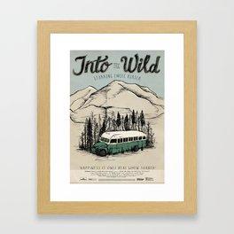 Into The Wild Film Poster Framed Art Print