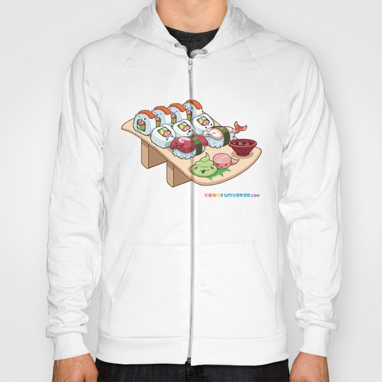 Kawaii California Roll and Sushi Shrimp and Tuna Nigiri Hoody