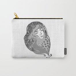 zentangle portrait 5 Carry-All Pouch