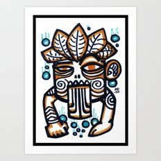 Tiki Bubbles Art Print