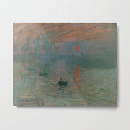 Claude Monet - Impression, Sunrise Metal Print