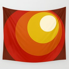 Ceridwen - Classic Colorful Abstract Minimal Retro 70s Style Dots Design Wall Tapestry