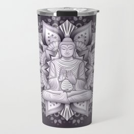 Black Mandala Travel Mug