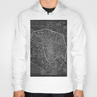 paris map Hoodies featuring Paris map by Le petit Archiviste