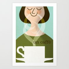 Un Caffe Art Print