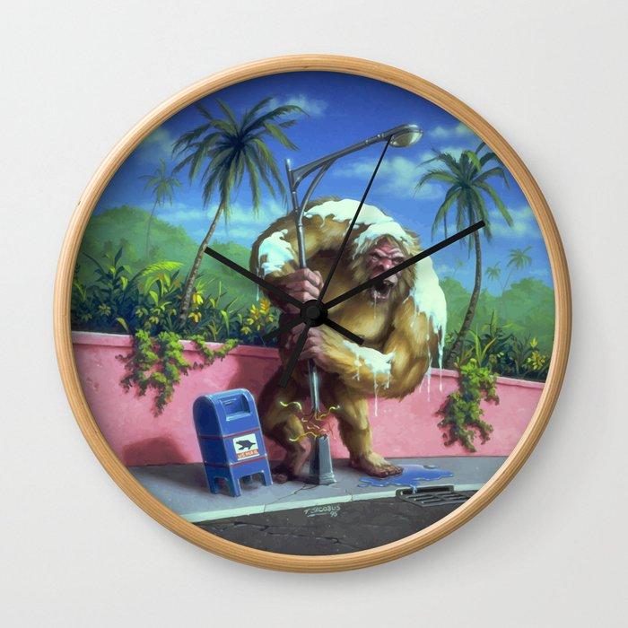 The Abominable Snowman of Pasadena Wall Clock