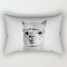 Alpaca - Black & White Rectangular Pillow
