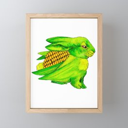Corn Bun Framed Mini Art Print