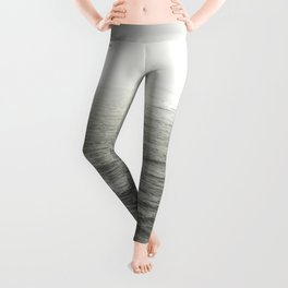 And So The Adventure Begins - Ocean Emotion Black and White Leggings