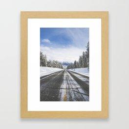 Highway by Cranbrook, BC Framed Art Print