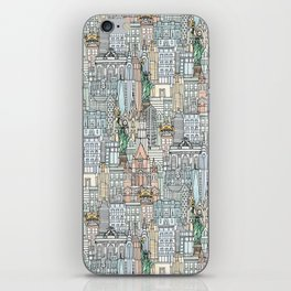 New York watercolor iPhone Skin