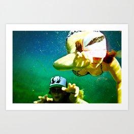 Beneath the Waters Edge Art Print