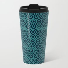 brocade indigo blue Metal Travel Mug